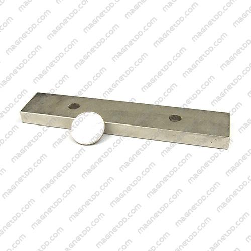 แม่เหล็กแรงสูง Neodymium ขนาด 150mm x 30mm x 10mm รู 8mm แม่เหล็กถาวรนีโอไดเมี่ยม NdFeB (Neodymium)