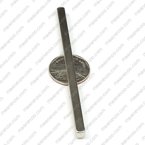 แม่เหล็กแรงสูง Neodymium ขนาด 99mm x 5mm x 5mm แม่เหล็กถาวรนีโอไดเมี่ยม NdFeB (Neodymium)