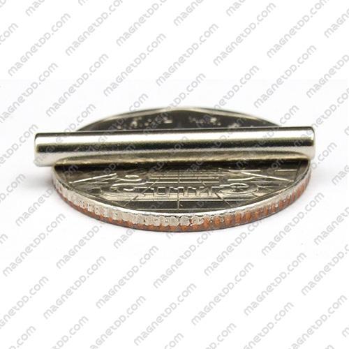 แม่เหล็กแรงสูง Neodymium ขนาด 3.17mm x 25.4mm แม่เหล็กถาวรนีโอไดเมี่ยม NdFeB (Neodymium)
