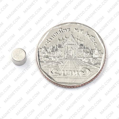 แม่เหล็กแรงสูง Neodymium ขนาด 5mm x 4mm แม่เหล็กถาวรนีโอไดเมี่ยม NdFeB (Neodymium)