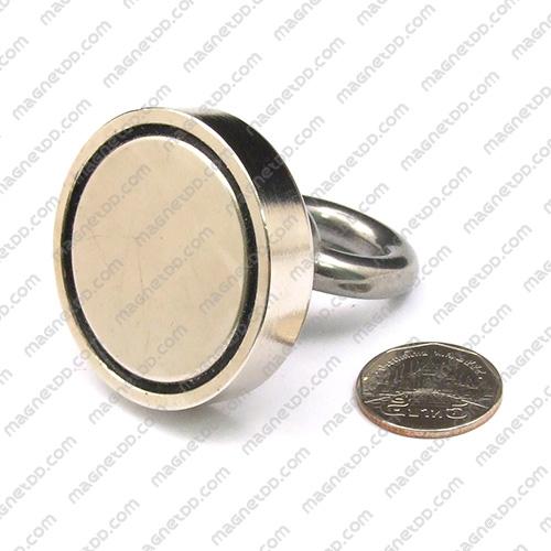 Mounting Magnet ฐานสูง ขนาด 48mm พร้อมห่วง แม่เหล็กถาวรนีโอไดเมี่ยม NdFeB (Neodymium)
