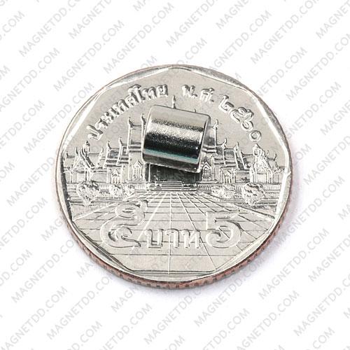 แม่เหล็กแรงสูง Neodymium ขนาด 6mm x 6mm แม่เหล็กถาวรนีโอไดเมี่ยม NdFeB (Neodymium)