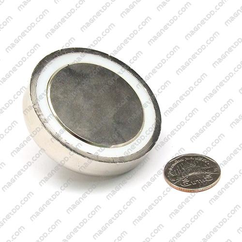 ชุดตะขอแม่เหล็กแรงสูง Neodymium ขนาด 60mm แม่เหล็กถาวรนีโอไดเมี่ยม NdFeB (Neodymium)