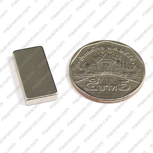 แม่เหล็กแรงสูง Neodymium ขนาด 20mm x 10mm x 3mm - เกรด B แม่เหล็กถาวรนีโอไดเมี่ยม NdFeB (Neodymium)