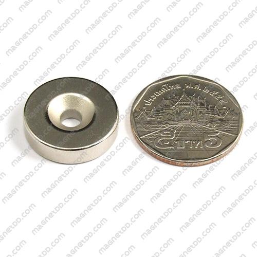 แม่เหล็กแรงสูง Neodymium ขนาด 20mm x 5mm รูขนาด 4.5mm แม่เหล็กถาวรนีโอไดเมี่ยม NdFeB (Neodymium)