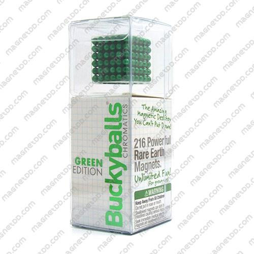แม่เหล็กแรงสูง Bucky Ball ขนาด 5mm. ชุด 216 ชิ้น - สีเขียว แม่เหล็กถาวรนีโอไดเมี่ยม NdFeB (Neodymium)
