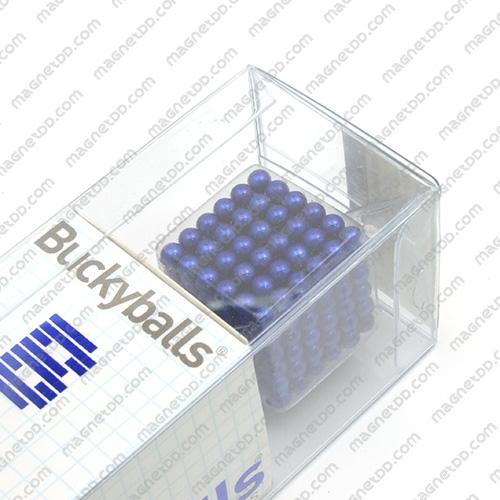 แม่เหล็กแรงสูง Bucky Ball ขนาด 5mm. ชุด 216 ชิ้น - สีน้ำเงิน แม่เหล็กถาวรนีโอไดเมี่ยม NdFeB (Neodymium)