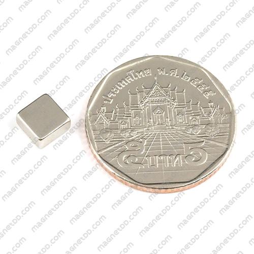 แม่เหล็กแรงสูง Neodymium ขนาด 6.30mm x 6.30mm x 3.15mm แม่เหล็กถาวรนีโอไดเมี่ยม NdFeB (Neodymium)