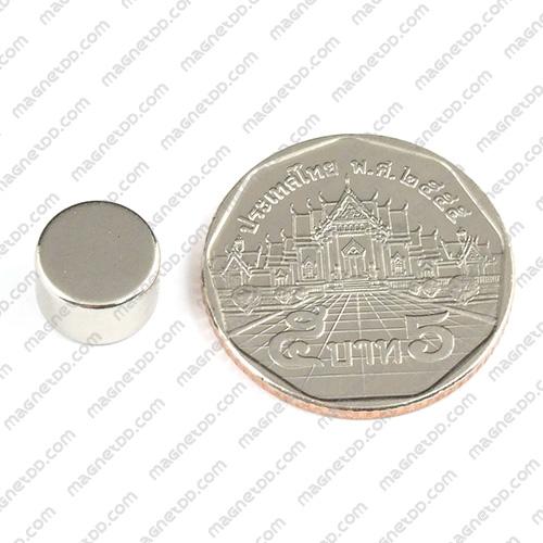 แม่เหล็กแรงสูง Neodymium ขนาด 9.50mm x 6.30mm แม่เหล็กถาวรนีโอไดเมี่ยม NdFeB (Neodymium)