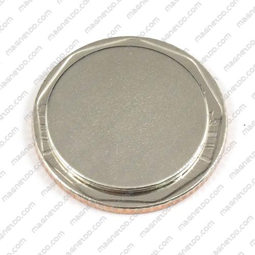 แม่เหล็กแรงสูง Neodymium ขนาด 20mm x 1mm แม่เหล็กถาวรนีโอไดเมี่ยม NdFeB (Neodymium)