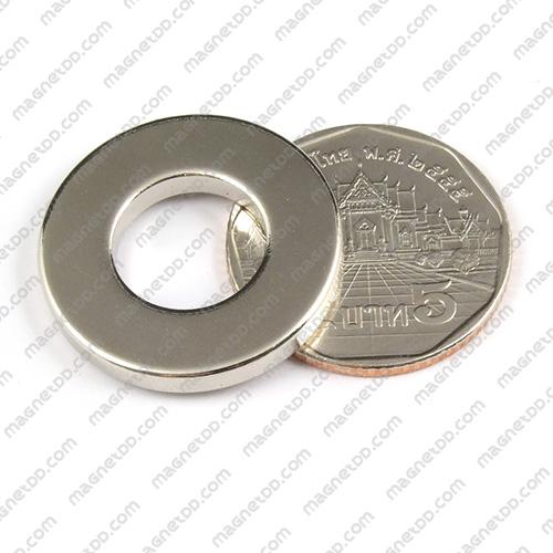 แม่เหล็กแรงสูง Neodymium ขนาด 25.35mm x 3.15mm วงใน 12.5mm แม่เหล็กถาวรนีโอไดเมี่ยม NdFeB (Neodymium)