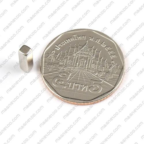 แม่เหล็กแรงสูง Neodymium ขนาด 10mm x 3mm x 3mm แม่เหล็กถาวรนีโอไดเมี่ยม NdFeB (Neodymium)