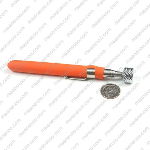 ปากกายืดแม่เหล็กแรงสูง - 65cm. ด้ามยางสีส้ม - 4.5KG แม่เหล็กถาวรนีโอไดเมี่ยม NdFeB (Neodymium)
