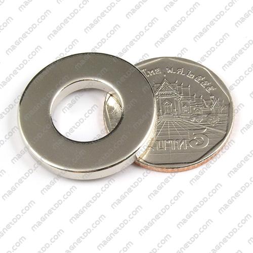 แม่เหล็กแรงสูง Neodymium ขนาด 30mm x 3mm วงใน 10mm แม่เหล็กถาวรนีโอไดเมี่ยม NdFeB (Neodymium)