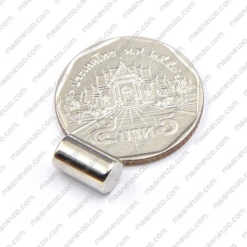 แม่เหล็กแรงสูง Neodymium ขนาด 6mm x 10mm - เกรด B แม่เหล็กถาวรนีโอไดเมี่ยม NdFeB (Neodymium)