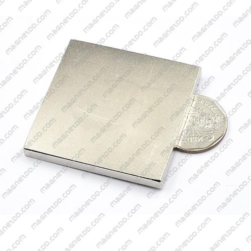 แม่เหล็กแรงสูง Neodymium ขนาด 50mm x 50mm x 5mm แม่เหล็กถาวรนีโอไดเมี่ยม NdFeB (Neodymium)