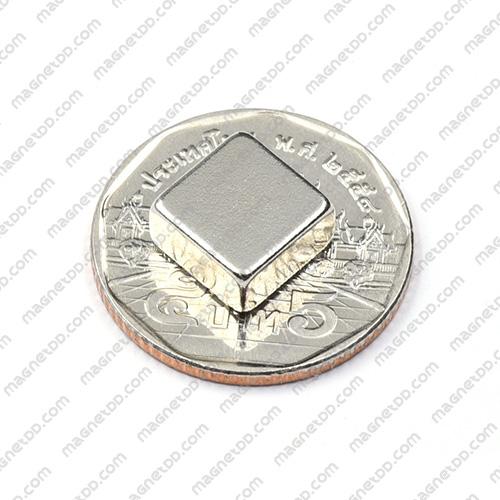 แม่เหล็กแรงสูง Neodymium ขนาด 10mm x 10mm x 5mm แม่เหล็กถาวรนีโอไดเมี่ยม NdFeB (Neodymium)
