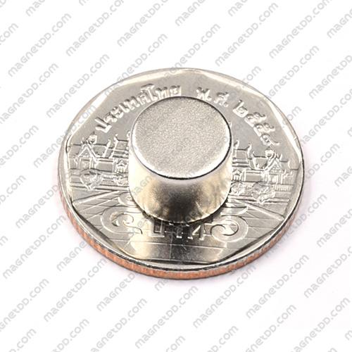 แม่เหล็กแรงสูง Neodymium ขนาด 10mm x 8mm - เกรด B แม่เหล็กถาวรนีโอไดเมี่ยม NdFeB (Neodymium)