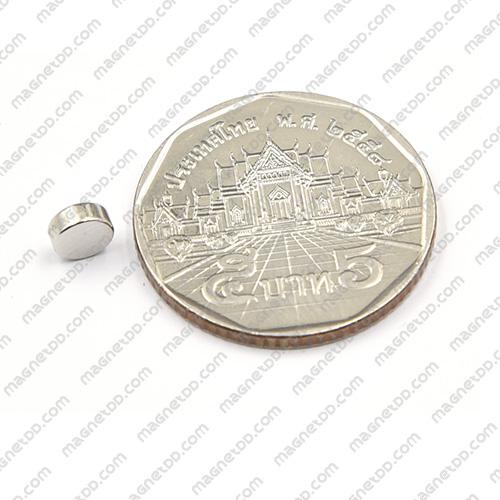 แม่เหล็กแรงสูง Neodymium ขนาด 5mm x 2mm - เกรด B แม่เหล็กถาวรนีโอไดเมี่ยม NdFeB (Neodymium)