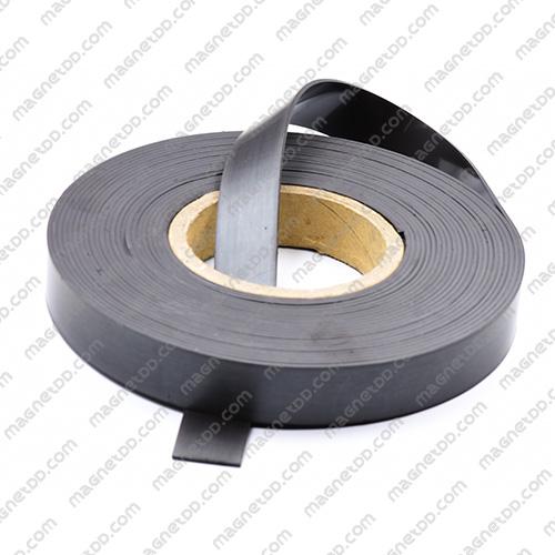 แม่เหล็กยาง ขนาด 25mm x 2mm ยาว 10เมตร - ยกม้วน แม่เหล็กถาวรยาง Flexible Rubber Magnets