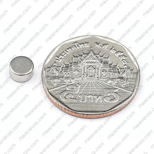 แม่เหล็กแรงสูง Neodymium ขนาด 6mm x 3mm แม่เหล็กถาวรนีโอไดเมี่ยม NdFeB (Neodymium)