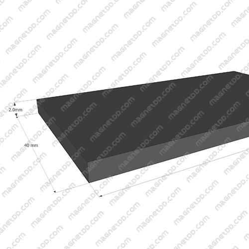 แม่เหล็กยาง ขนาด 40mm x 2mm ยาว 10เมตร - ยกม้วน แม่เหล็กถาวรยาง Flexible Rubber Magnets