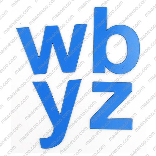 แม่เหล็กยาง ตัวอักษร อังกฤษพิมพ์เล็ก a-z ขนาด 38mm ชุด 26 ชิ้น - สีน้ำเงิน แม่เหล็กถาวรยาง Flexible Rubber Magnets