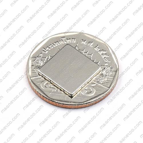 แม่เหล็กแรงสูง Neodymium ขนาด 12mm x 12mm x 1mm แม่เหล็กถาวรนีโอไดเมี่ยม NdFeB (Neodymium)