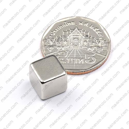 แม่เหล็กแรงสูง Neodymium ขนาด 10mm x 10mm x 10mm แม่เหล็กถาวรนีโอไดเมี่ยม NdFeB (Neodymium)