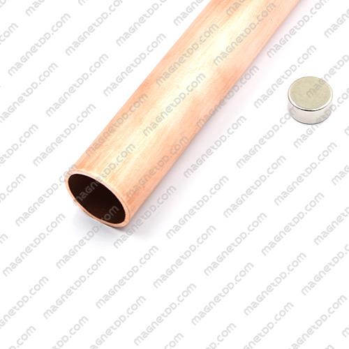 ท่อทองแดงลดแรงโน้มถ่วง - ยาว 20 ซม. แม่เหล็กถาวรนีโอไดเมี่ยม NdFeB (Neodymium)