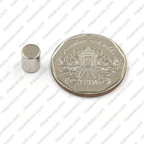 แม่เหล็กแรงสูง Neodymium ขนาด 6mm x 7.5mm แม่เหล็กถาวรนีโอไดเมี่ยม NdFeB (Neodymium)