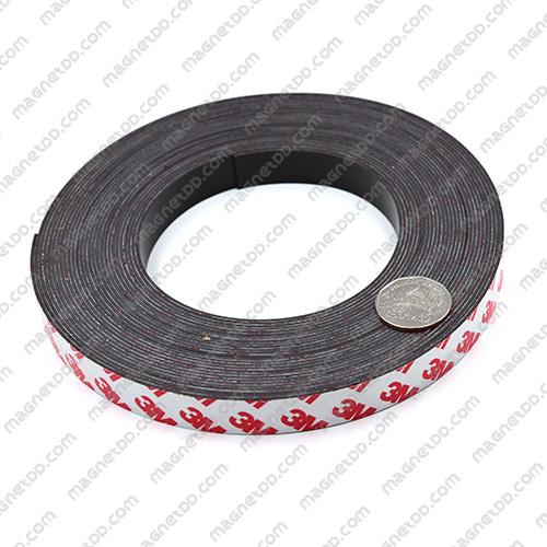 แม่เหล็กยางสติกเกอร์ 3M ขนาด 15mm x 1mm ยาว 10เมตร - ยกม้วน แม่เหล็กถาวรยาง Flexible Rubber Magnets