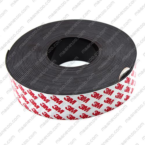 แม่เหล็กยางสติกเกอร์ 3M ขนาด 40mm x 1.5mm ยาว 10เมตร - ยกม้วน แม่เหล็กถาวรยาง Flexible Rubber Magnets