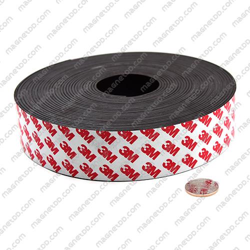 แม่เหล็กยางสติกเกอร์ 3M ขนาด 40mm x 2mm ยาว 10เมตร - ยกม้วน แม่เหล็กถาวรยาง Flexible Rubber Magnets