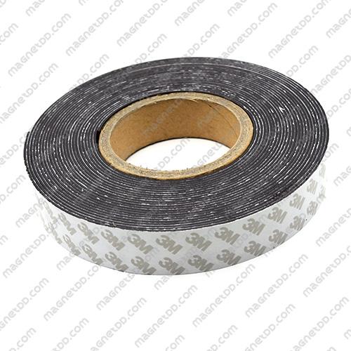 แม่เหล็กยางสติกเกอร์ 3M ขนาด 30mm x 1.5mm ยาว 10เมตร - ยกม้วน แม่เหล็กถาวรยาง Flexible Rubber Magnets