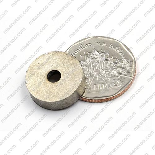แม่เหล็กแรงสูงทนความร้อน Samarium 18mm x 5mm วงใน 4mm แม่เหล็กแรงสูง ทนความร้อน Samarium Cobalt 350C