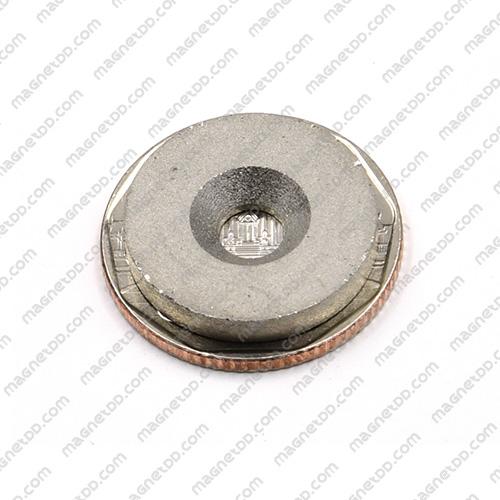 แม่เหล็กแรงสูงทนความร้อน Samarium 20mm x 3mm วงใน 5mm แม่เหล็กแรงสูง ทนความร้อน Samarium Cobalt 350C