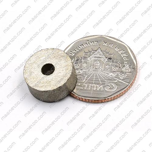 แม่เหล็กแรงสูงทนความร้อน Samarium 15mm x 6mm วงใน 3.5mm แม่เหล็กแรงสูง ทนความร้อน Samarium Cobalt 350C