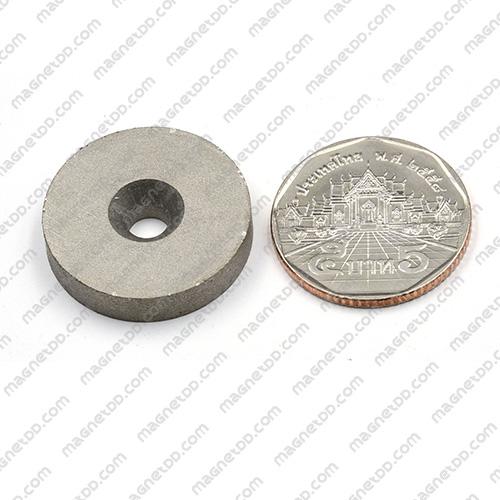 แม่เหล็กแรงสูงทนความร้อน Samarium 25mm x 5mm วงใน 5mm แม่เหล็กแรงสูง ทนความร้อน Samarium Cobalt 350C