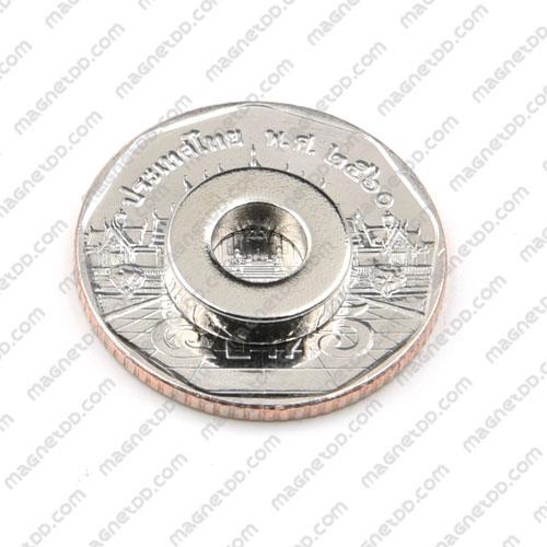 แม่เหล็กแรงสูง Neodymium ขนาด 12mm x 3mm วงใน 6mm - ชุด 10 ชิ้น แม่เหล็กถาวรนีโอไดเมี่ยม NdFeB (Neodymium)