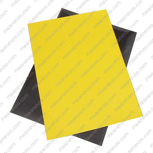 แม่เหล็กยาง A4 ขนาด 297mm x 210mm x 0.5mm - สีเหลือง แม่เหล็กถาวรยาง Flexible Rubber Magnets