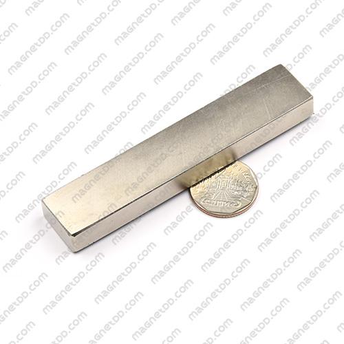แม่เหล็กแรงสูง Neodymium ขนาด 100mm x 20mm x 10mm - เกรด B แม่เหล็กถาวรนีโอไดเมี่ยม NdFeB (Neodymium)