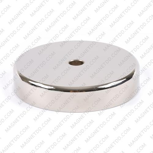 Mounting Magnet ขนาด 90mm x 18mm รู 10mm พร้อมห่วงสแตนเลส แม่เหล็กถาวรนีโอไดเมี่ยม NdFeB (Neodymium)