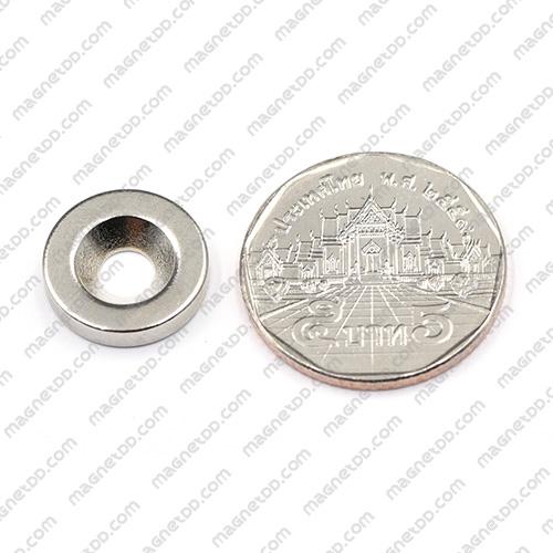 แม่เหล็กแรงสูง Neodymium ขนาด 15mm x 3mm วงใน 4mm แม่เหล็กถาวรนีโอไดเมี่ยม NdFeB (Neodymium)