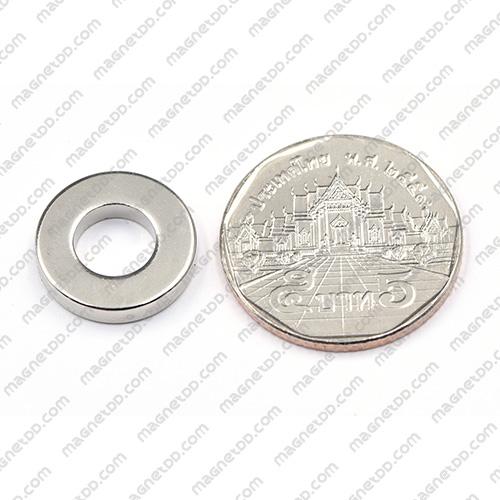 แม่เหล็กแรงสูง Neodymium ขนาด 16mm x 3mm วงใน 8mm แม่เหล็กถาวรนีโอไดเมี่ยม NdFeB (Neodymium)