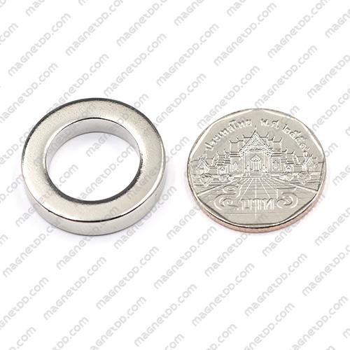 แม่เหล็กแรงสูง Neodymium ขนาด 25mm x 5mm วงใน 16mm แม่เหล็กถาวรนีโอไดเมี่ยม NdFeB (Neodymium)