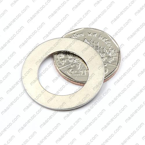 แม่เหล็กแรงสูง Neodymium ขนาด 29mm x 1mm วงใน 17.75mm แม่เหล็กถาวรนีโอไดเมี่ยม NdFeB (Neodymium)