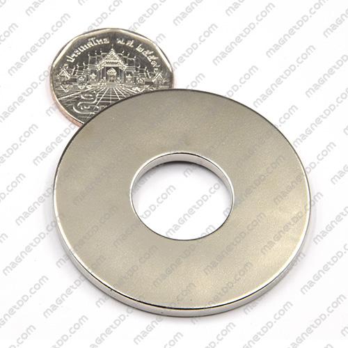 แม่เหล็กแรงสูง Neodymium ขนาด 48.5mm x 3mm วงใน 18.5mm แม่เหล็กถาวรนีโอไดเมี่ยม NdFeB (Neodymium)