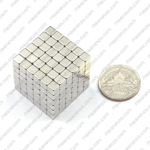 แม่เหล็กแรงสูง สี่เหลี่ยมลูกบาศก์ 5mm x 5mm x 5mm - ชุด 216 ชิ้น แม่เหล็กถาวรนีโอไดเมี่ยม NdFeB (Neodymium)