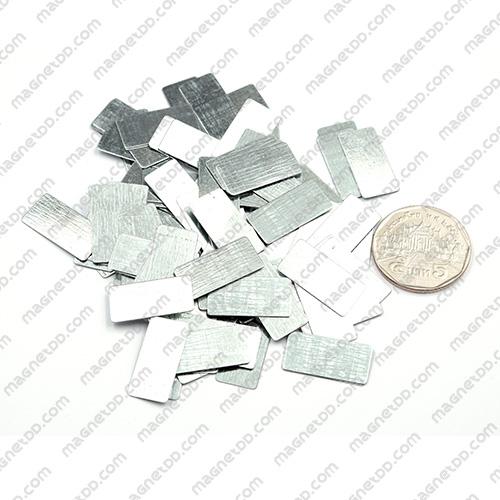แผ่นเหล็ก Sheet Iron 20mm x 10mm x 0.3mm [ ชุด 100ชิ้น]